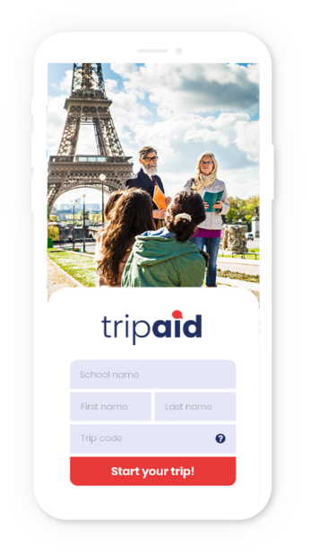 Create your trip! app preview on mobile a device